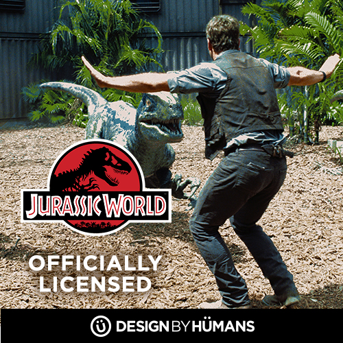 Shop officially licensed Jurassic Park apparel at DesignByHumans.com.