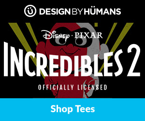 Shop 'Incredibles 2' apparel at DesignByHumans.com.