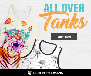 Shop the all over tank collection at DesignByHumans.com!