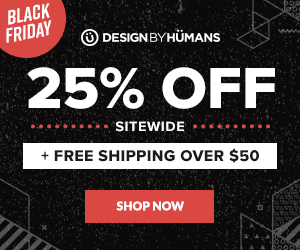 Save 25% off sitewide with coupon code: BFCM. Plus free worldwide shipping on apparel orders over $50.