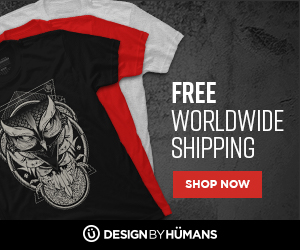 Free worldwide shipping on apparel.