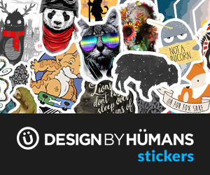 Now introducing stickers at Design By Humans. Choose from 35K designs starting at $3.