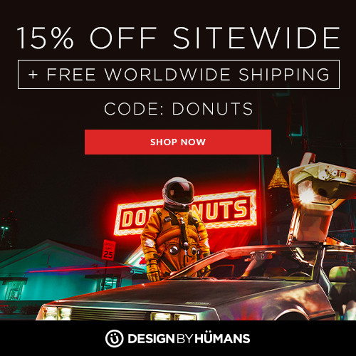 Save 15% off sitewide and get free shipping on apparel with coupon code: DONUTS.