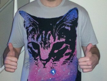 Lividentity wearing [ Space Cat ] by blindmelon