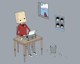 Paperbag Writer by Haasbroek