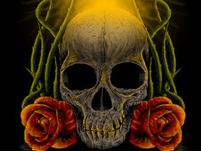 Skull and Rose T-Shirt Design by
