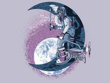 The Moon Engineer T-Shirt Design by