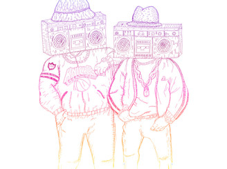 Ghetto Blaster boyz by keuj
