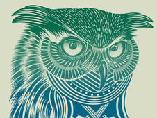 Warrior Owl T-Shirt Design by