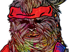 Peace, love and chewbacca T-Shirt Design by
