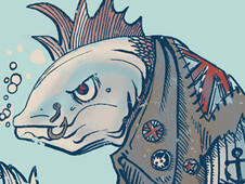 Punk Fish T-Shirt Design by