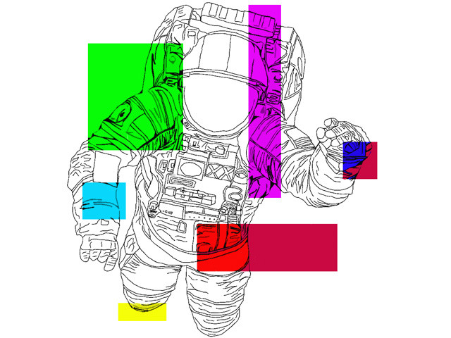 Abstract Astronaut