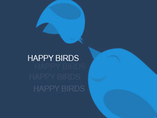 Happy Birds T-Shirt Design by