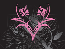 Abstract Pink Black T-Shirt Design by