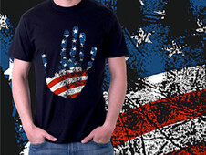 Proud American T-Shirt Design by