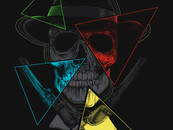 RicoMambo wearing Skull, Hat, 4 triangles and guns by RicoMambo