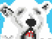 Pixel Polar Bear by daletheskater