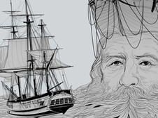 old man and the sea T-Shirt Design by
