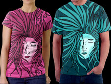 Woman Art T-Shirt Design by