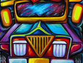 wholovesart wearing jeepney joyride 2 by gansworks