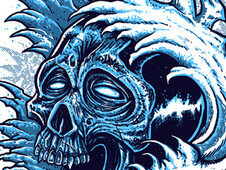 Ocean Skull T-Shirt Design by
