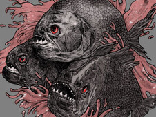 killer fish T-Shirt Design by