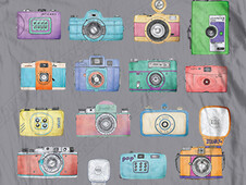 Lomo cameras T-Shirt Design by