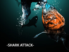 -SHARK ATTACK- T-Shirt Design by