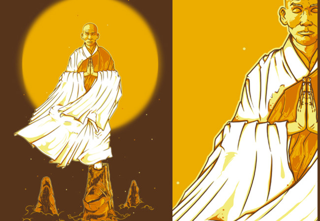 Yellow monk
