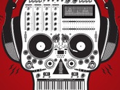 Exclusive-Ape wearing Skull DJ by Exclusive-Ape
