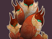 Flock of Fox Owls by LunuLata