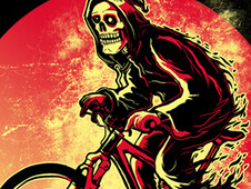 Hot Biking Grimreaper T-Shirt Design by