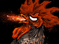 Angry Rooster T-Shirt Design by