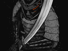 Dark Samurai T-Shirt Design by