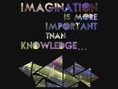Imagination vs. Knowledge (in purple) by ishepel
