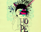nlow wearing Have Hope by mathiole