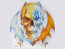 BatSkull T-Shirt Design by