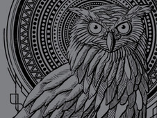 Owl Nouveau II T-Shirt Design by
