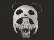 messing wearing Panda Skull by messing