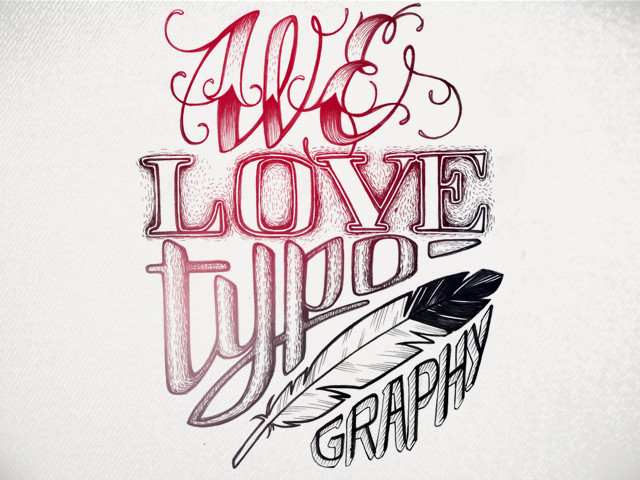Love typoghraphy