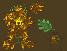 A Daffodil in November T-Shirt Design by
