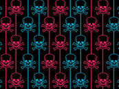 skull patterns by pinkstorm
