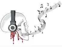 Death By Music - Music Crave T-Shirt Design by