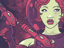 Space Girl T-Shirt Design by