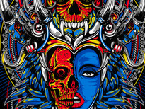 Tribal Skull T-Shirt Design by
