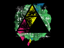Neon Triangle T-Shirt Design by