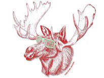 This is my moose. T-Shirt Design by