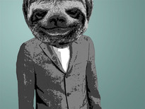 Mr. Sloth T-Shirt Design by