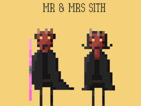 Mr & Mrs Sith T-Shirt Design by