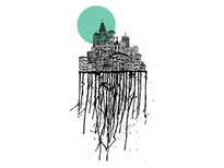 City Drips T-Shirt Design by